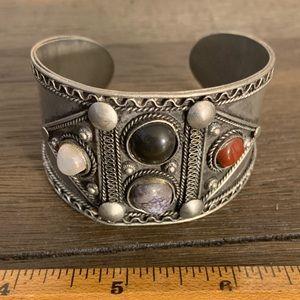 Vintage Base Metal Cuff Bracelet